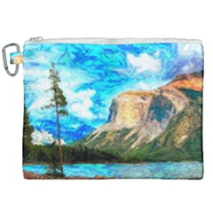 Painting Paintings Mountain Canvas Cosmetic Bag (xxl) by Pakrebo