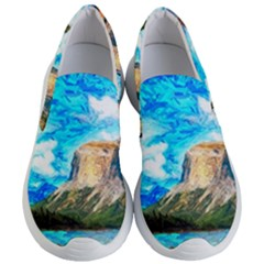 Painting Paintings Mountain Women s Lightweight Slip Ons by Pakrebo
