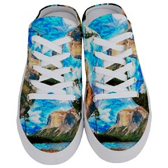 Painting Paintings Mountain Half Slippers by Pakrebo