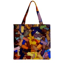 Texture Painting Plot Graffiti Grocery Tote Bag