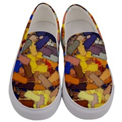 Texture Painting Plot Graffiti Men s Canvas Slip Ons