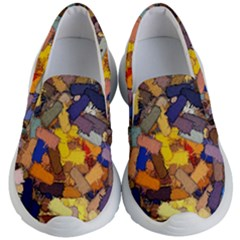 Texture Painting Plot Graffiti Kids  Lightweight Slip Ons