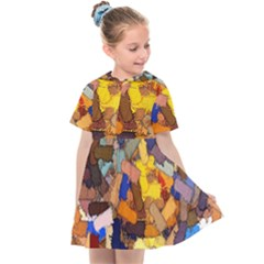 Texture Painting Plot Graffiti Kids  Sailor Dress