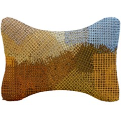 Color Colors Abstract Yellow Brown Seat Head Rest Cushion by Pakrebo