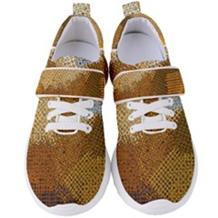 Color Colors Abstract Yellow Brown Women s Velcro Strap Shoes by Pakrebo