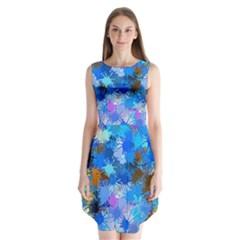 Color Colors Abstract Colorful Sleeveless Chiffon Dress