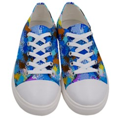Color Colors Abstract Colorful Women s Low Top Canvas Sneakers
