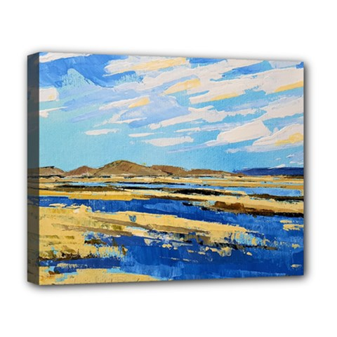 The Landscape Water Blue Painting Deluxe Canvas 20  X 16  (stretched)