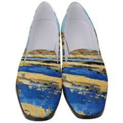 The Landscape Water Blue Painting Women s Classic Loafer Heels