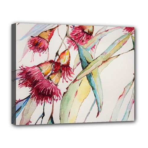 Plant Nature Flowers Foliage Canvas 14  X 11  (stretched)