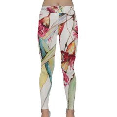 Plant Nature Flowers Foliage Classic Yoga Leggings by Pakrebo