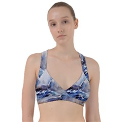 Art Painting Sea Storm Seagull Sweetheart Sports Bra by Pakrebo