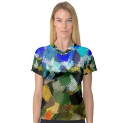 Texture Color Colors Network V Neck Sport Mesh Tee