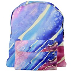 Painting Abstract Blue Pink Spots Giant Full Print Backpack