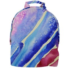 Painting Abstract Blue Pink Spots Mini Full Print Backpack by Pakrebo