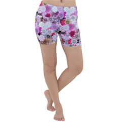 Flower Flowers Carta Da Parati Lightweight Velour Yoga Shorts