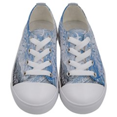 Coast Beach Shell Conch Water Kids  Low Top Canvas Sneakers