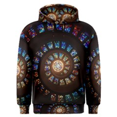 Stained Glass Spiral  Men s Overhead Hoodie by WensdaiAddamns