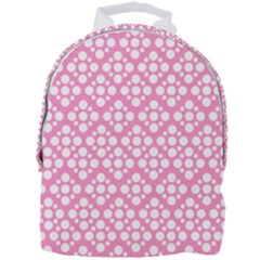 Floral Dot Series - Pink And White Mini Full Print Backpack