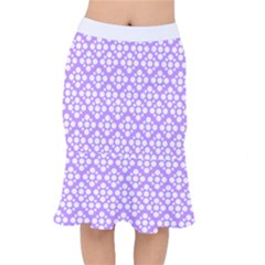 Floral Dot Series - Purple And White Mermaid Skirt by TimelessFashion