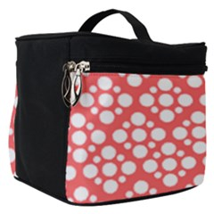 Floral Dot Series   Red And White Make Up Travel Bag (small)