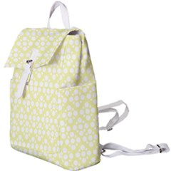 Floral Dot Series - Yellow And White Buckle Everyday Backpack by TimelessFashion