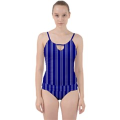 Nice Stripes In Blue Cut Out Top Tankini Set