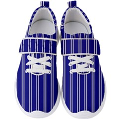 Nice Stripes In Blue Men s Velcro Strap Shoes by TimelessFashion