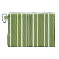 Nice Stripes In Olive Green Canvas Cosmetic Bag (xl) by TimelessFashion
