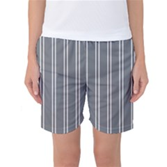 Nice Stripes In Steel Grey Women s Basketball Shorts