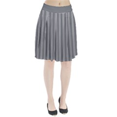 Nice Stripes In Steel Grey Pleated Skirt