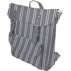 Nice Stripes In Steel Grey Buckle Up Backpack by TimelessFashion