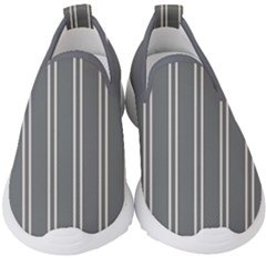 Nice Stripes In Steel Grey Kids  Slip On Sneakers
