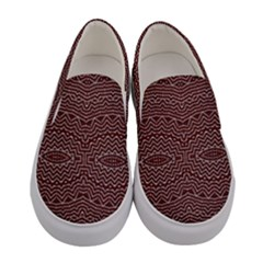 Design Pattern Abstract Desktop Women s Canvas Slip Ons