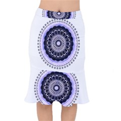 Design Circular Pattern Mandala Mermaid Skirt