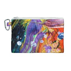 Abstract Modern Detail Color Canvas Cosmetic Bag (large)