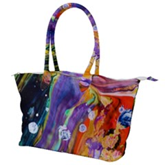 Abstract Modern Detail Color Canvas Shoulder Bag