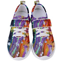 Abstract Modern Detail Color Women s Velcro Strap Shoes