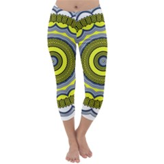 Mandala Pattern Round Ethnic Capri Winter Leggings