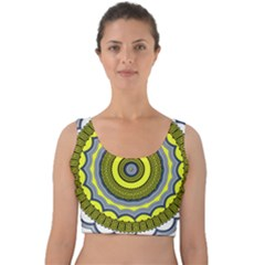Mandala Pattern Round Ethnic Velvet Crop Top