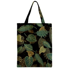 Autumn Fallen Leaves Dried Leaves Zipper Classic Tote Bag by Pakrebo