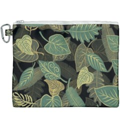 Autumn Fallen Leaves Dried Leaves Canvas Cosmetic Bag (xxxl)
