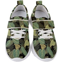 Autumn Fallen Leaves Dried Leaves Kids  Velcro Strap Shoes