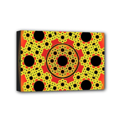 Fractal Art Design Pattern Mini Canvas 6  X 4  (stretched)