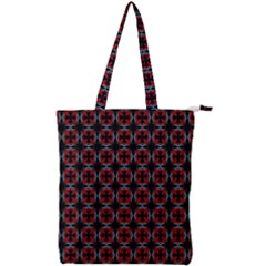 Pattern Design Artistic Decor Double Zip Up Tote Bag
