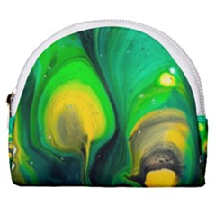 Art Abstract Artistically Painting Horseshoe Style Canvas Pouch