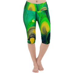 Art Abstract Artistically Painting Lightweight Velour Cropped Yoga Leggings