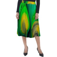 Art Abstract Artistically Painting Classic Velour Midi Skirt