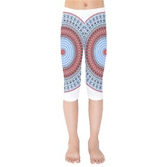 Pattern Design Circular Shape Kids  Capri Leggings