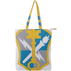 U S  Army Intelligence And Security Command Shoulder Sleeve Insignia Double Zip Up Tote Bag